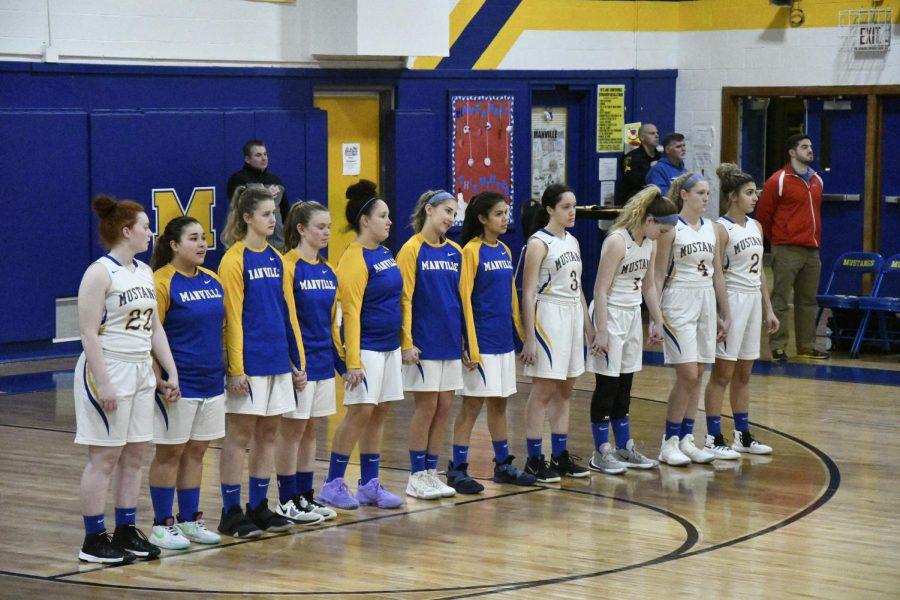 Manville Girls Basketball First Win