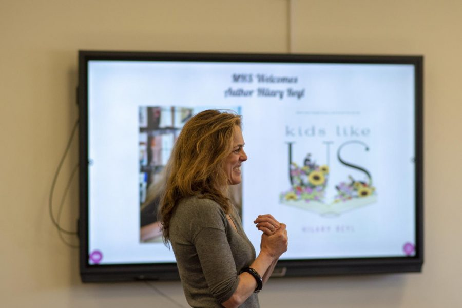Author Hilary Reyl Visits Manville High School